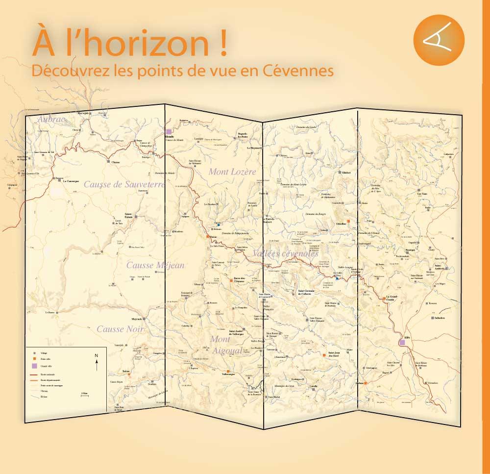 POINT DE VUE EN CEVENNES – PANORAMA - BELVEDERE - Vallées cévenoles - mont Aigoual - gorges du Tarn - gorges de la Jonte - causse Méjean - mont-Lozère- causse de Sauveterre - Parc national des Cévennes - Lozère - Gard
