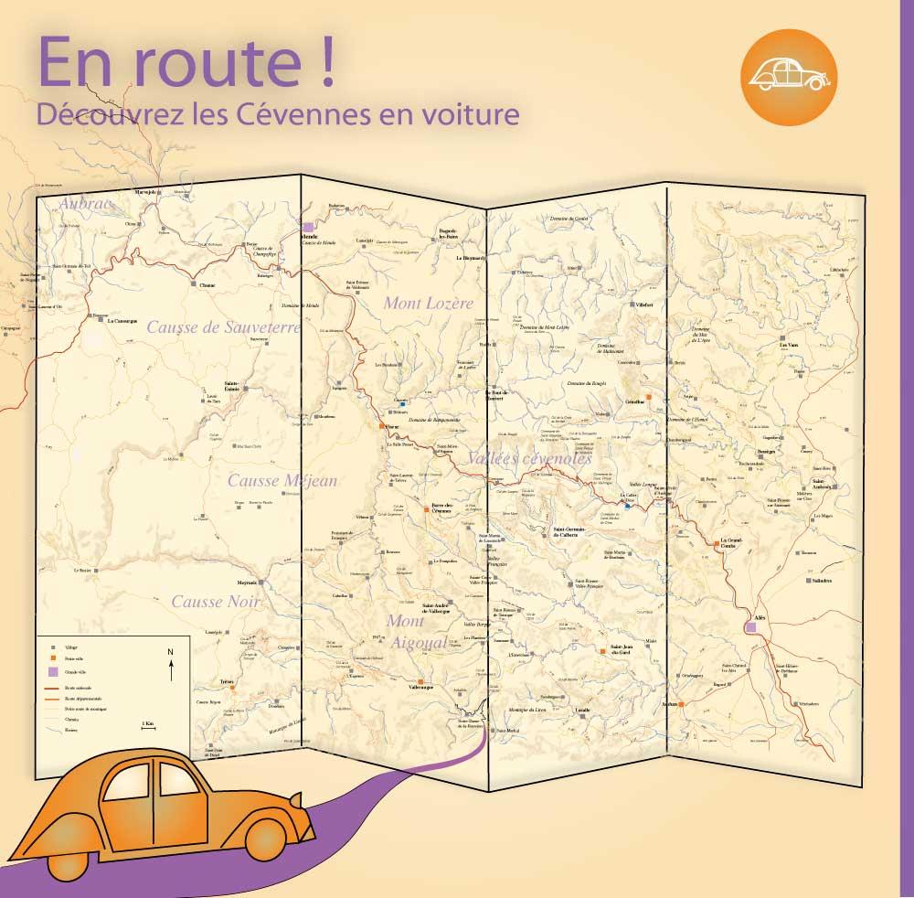 EN ROUTE POUR LES CEVENNES - itinéraires routiers, en voiture et à vélo - Vallées cévenoles – mont Aigoual – gorges du Tarn - gorges de la Jonte - causse Méjean – mont-Lozère- causse de Sauveterre - Parc national des Cévennes - Lozère - Gard –