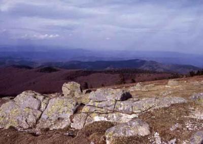Chaos granitique au sommet de l'Aigoual.