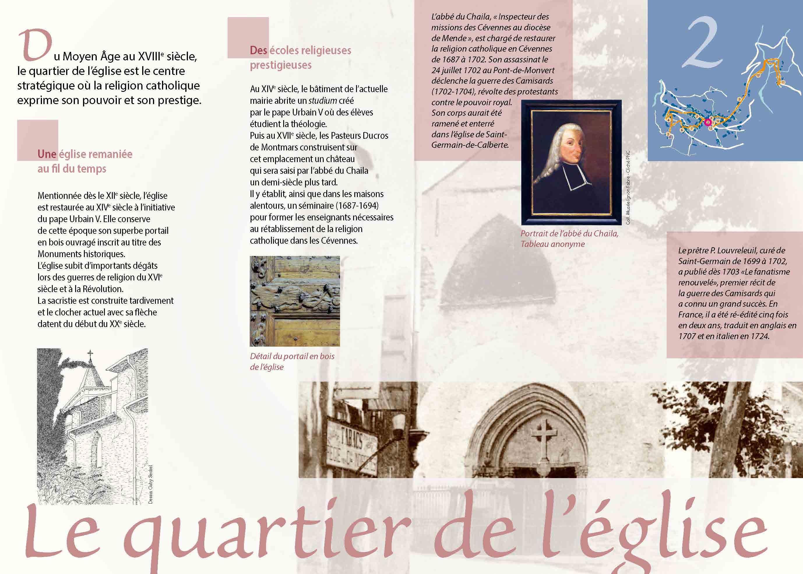 Quartier de l'église de Saint-Germain-de-Calberte