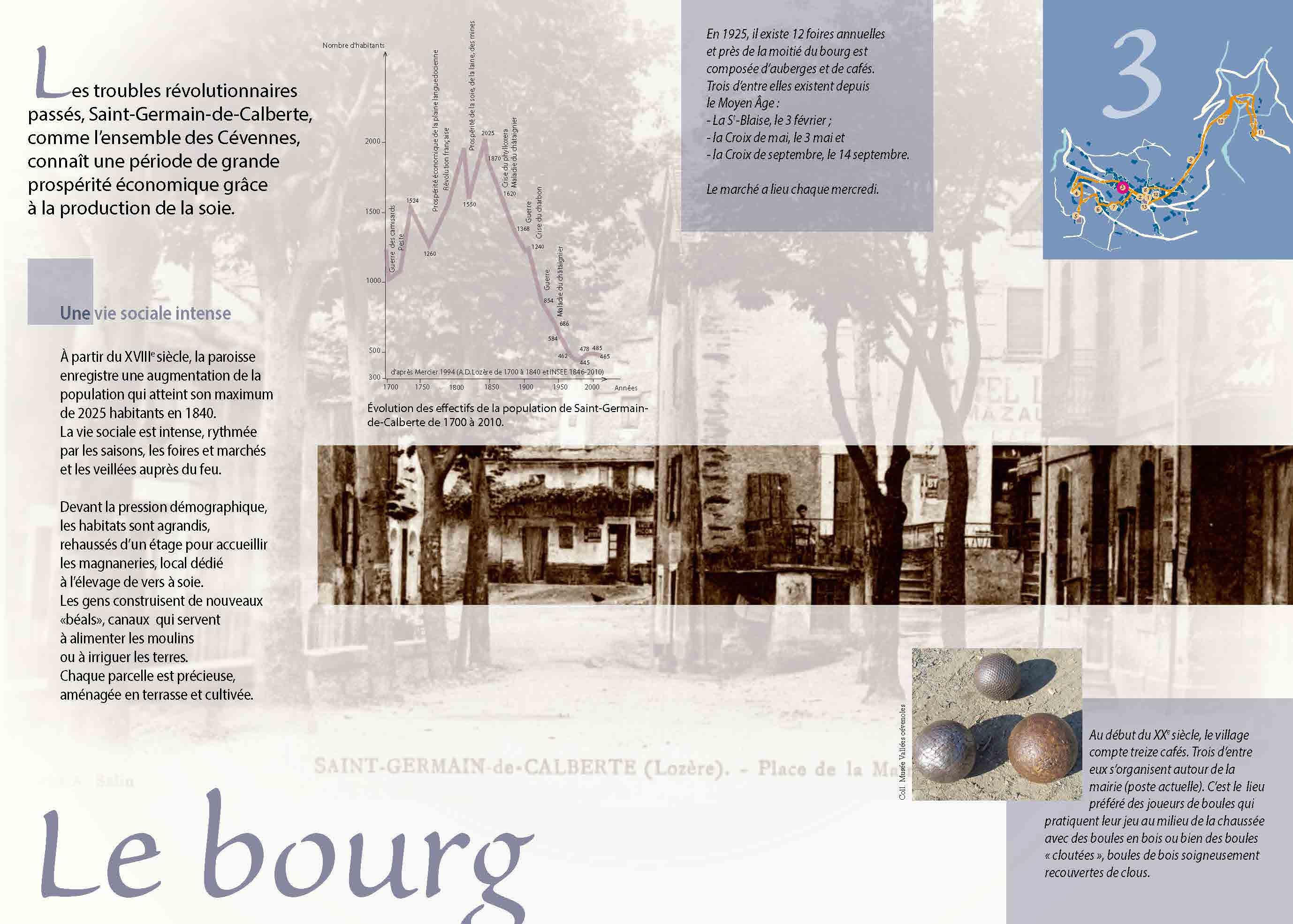 Le bourg de Saint-Germain-de-Calberte