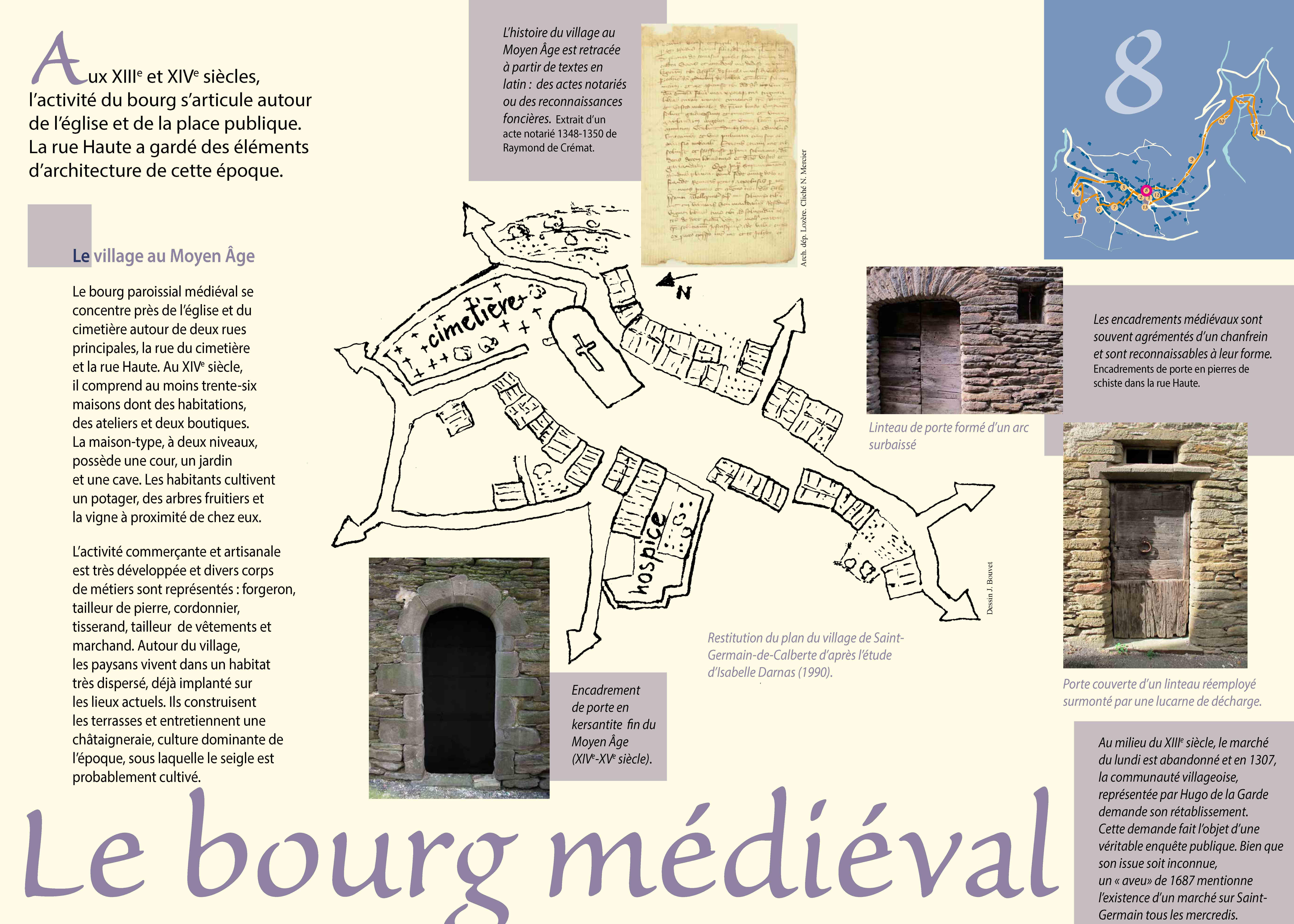 Le bourg médiéval de Saint-Germain-de-Calberte
