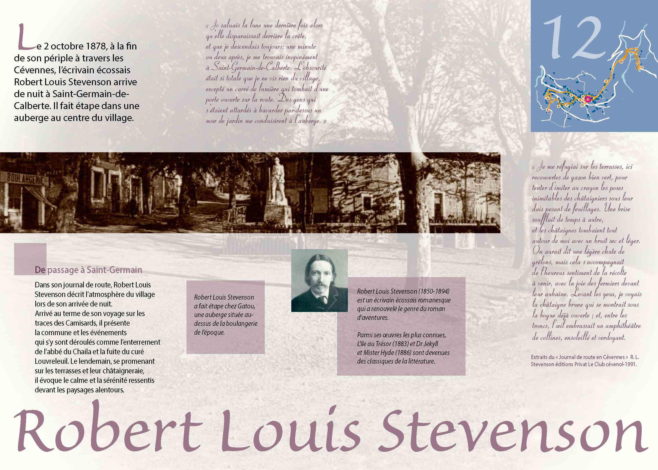 Robert Louis Stevenson à Saint-Germain-de-Calberte