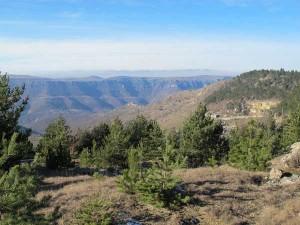 Sentier géologique de Barre-des-Cévennes: Vue sur le Causse