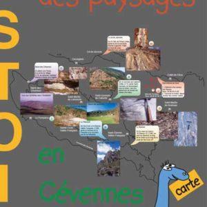 dépliant sur l'histoire des roches et des paysages en Cévennes