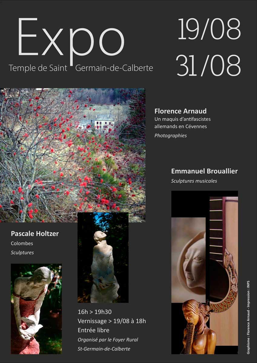 Exposition au temple de Saint-Germain-de-Calberte du 19 au 31 août.