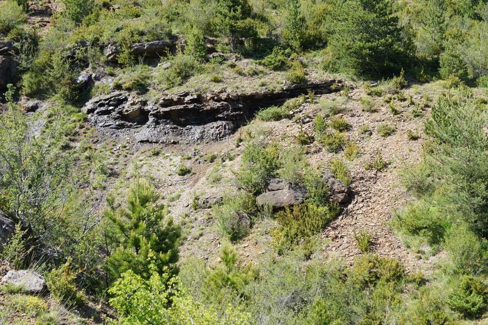 Alternance de calcaires et de marnes (photo Robert Guin).