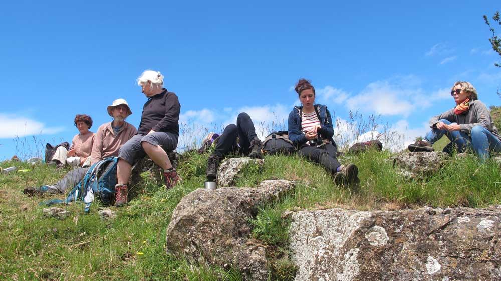 Pique-nique au sommet (photo Florence Arnaud)