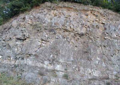 Calcaire massif de l'hettangien L1-L2
