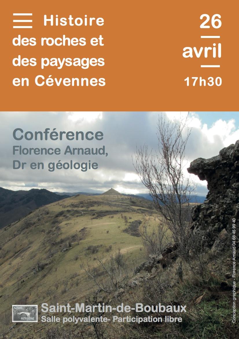 Conférence sur l'histoire des roches et des paysages en Cévennes