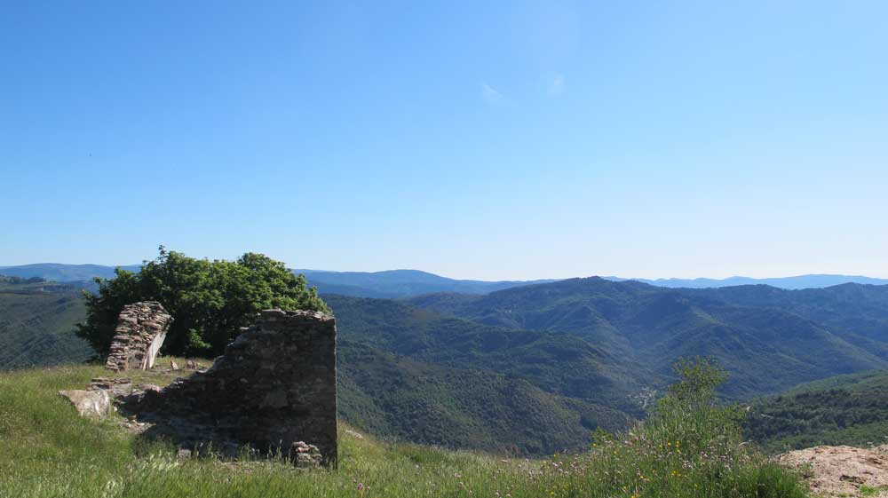 Col Salidès - Vue vers le versant méditerranéen à l'Est