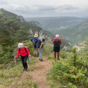 Vue sur les trois causses - Causse Méjean - Causse de Sauveterre - Causse noir (photo Florence Arnaud)