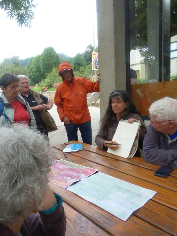 Les explications géologiques - Bramabiau - Camprieu (photo Georges Mattia)