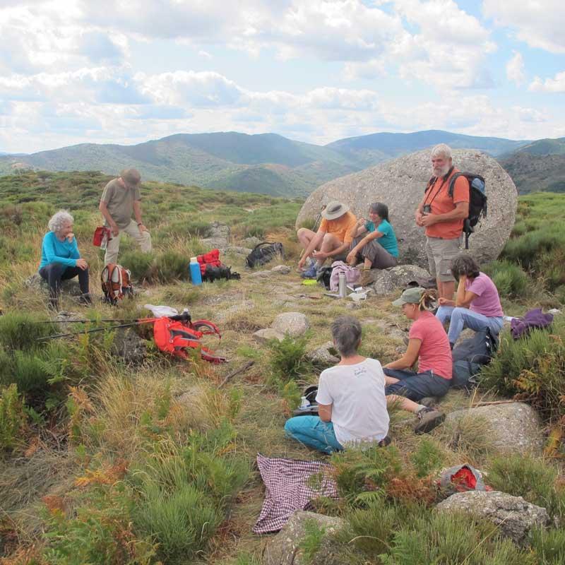 Le pique-nique au col de Montclar (photo Robert Guin)